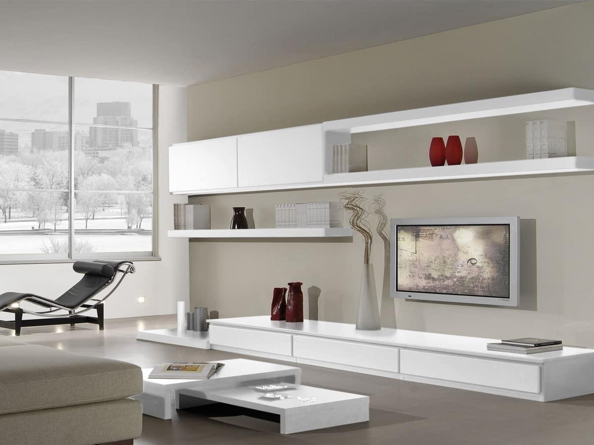 Sistema componibile per salotto con stile moderno  IDFdesign