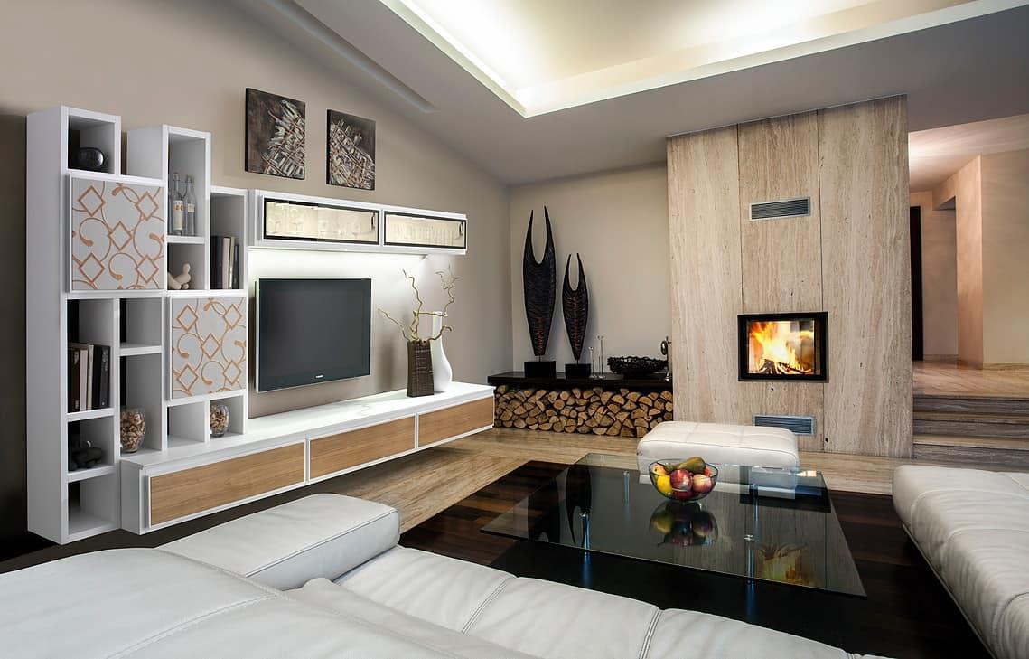 Mobile per salotto minimale modulare funzionale  IDFdesign