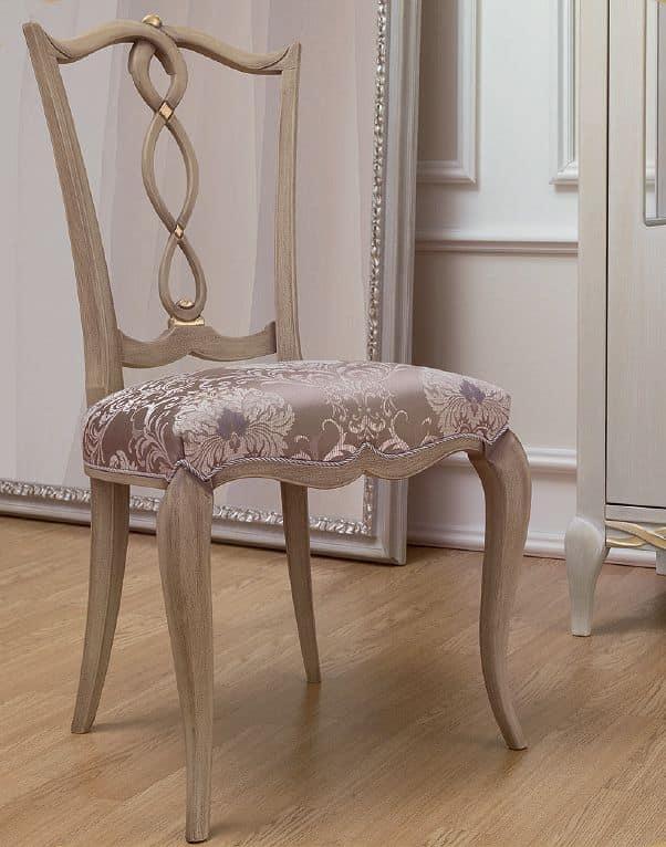 cafe chairs for sale sure fit chair slipcover sedia in stile classico, legno con seduta imbottita, per sala da pranzo | idfdesign