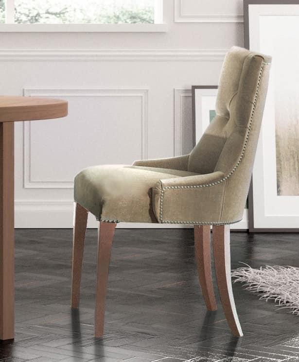 Visualizza altre idee su antiquariato, arredamento sala classica, mobili. Sedia Classica Di Lusso Capitonne Per Camera Hotel Idfdesign