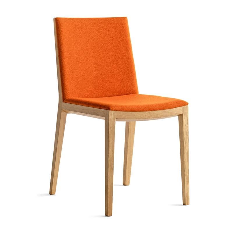 Sedia design da pranzo seduta e schienale imbottiti