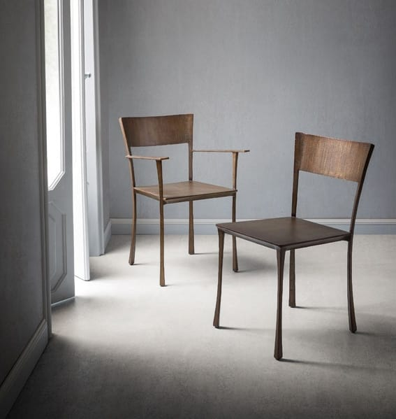 sedie decorate a mano la lavorazione. Sedia In Metallo Battuto E Saldato A Mano Idfdesign