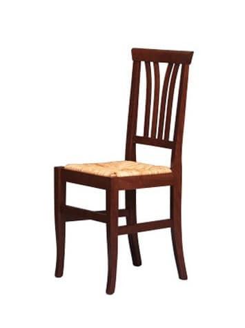 Sedia rustica in legno di faggio seduta in paglia per bar  IDFdesign