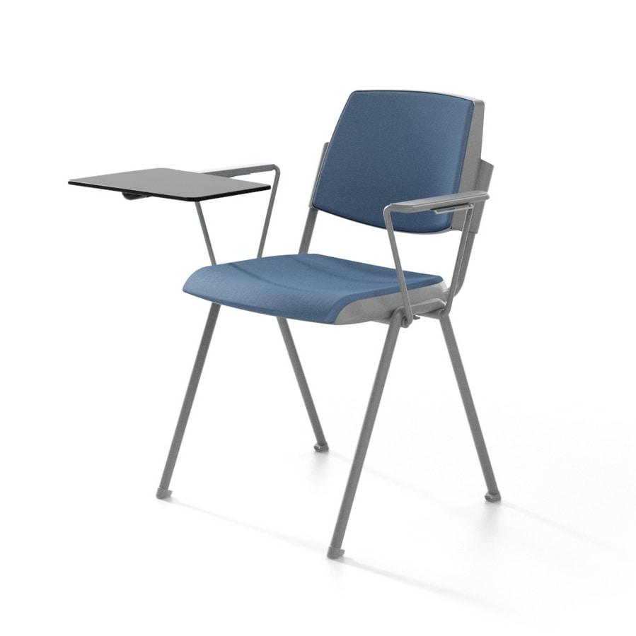 Sedia impilabile. imbottita. per aula conferenza | IDFdesign