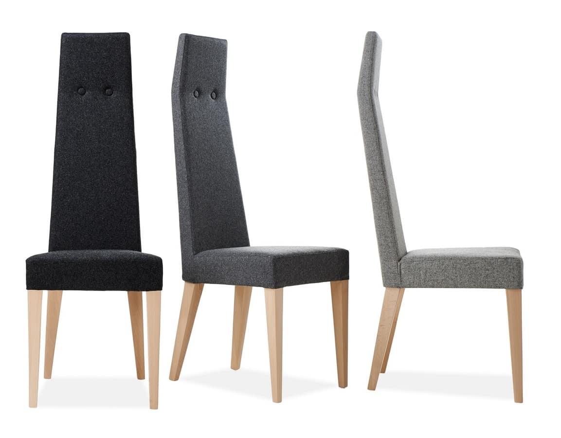 Sedia imbottita con schienale alto  IDFdesign