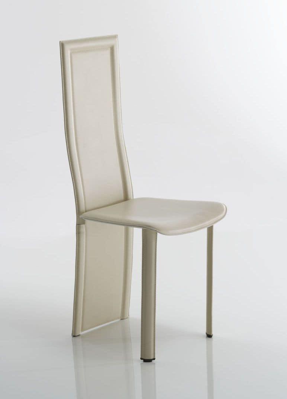 Sedia in pelle con importante schienale ideale per sale