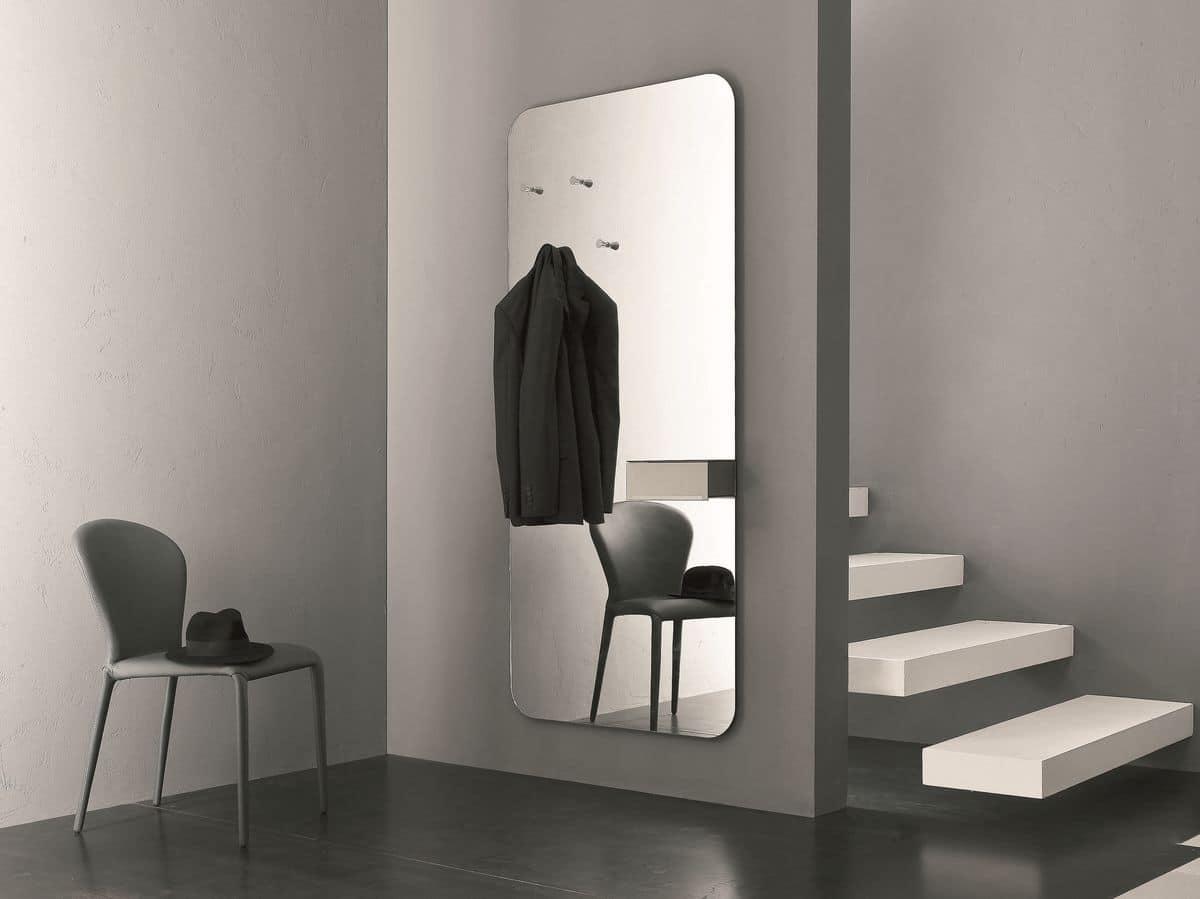 Specchio con portaoggetti ideale per lingresso di casa