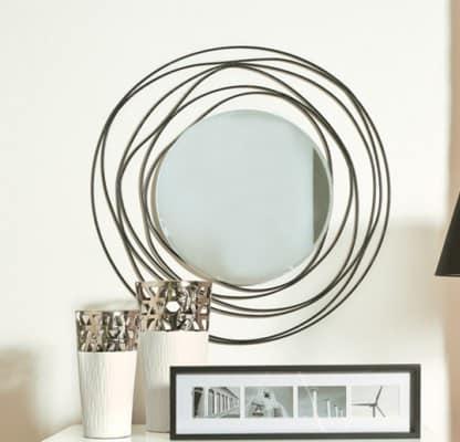 Specchio rotondo con cornice a forma di filo  IDFdesign