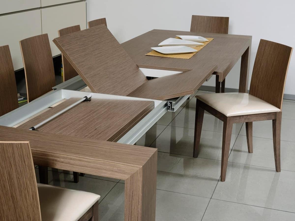 Tavolo allungabile rettangolare per sala da pranzo  IDFdesign