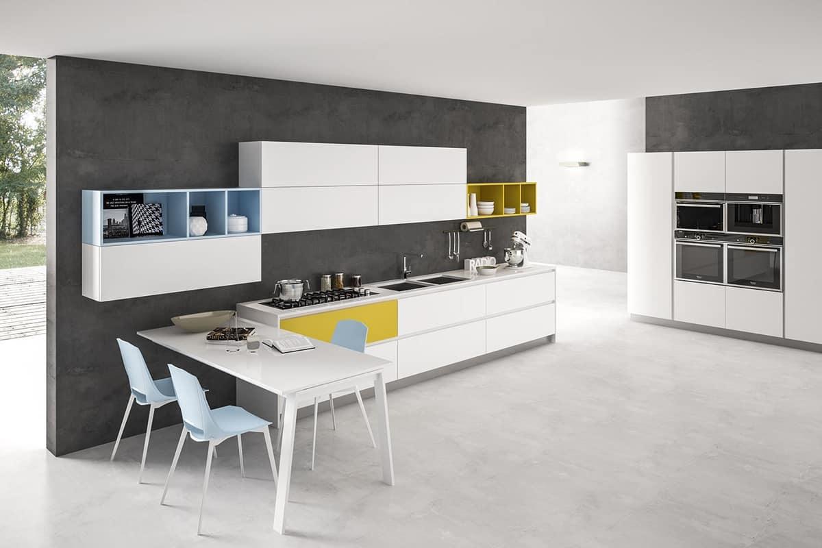 Tavolo penisola allungabile per cucine moderne  IDFdesign