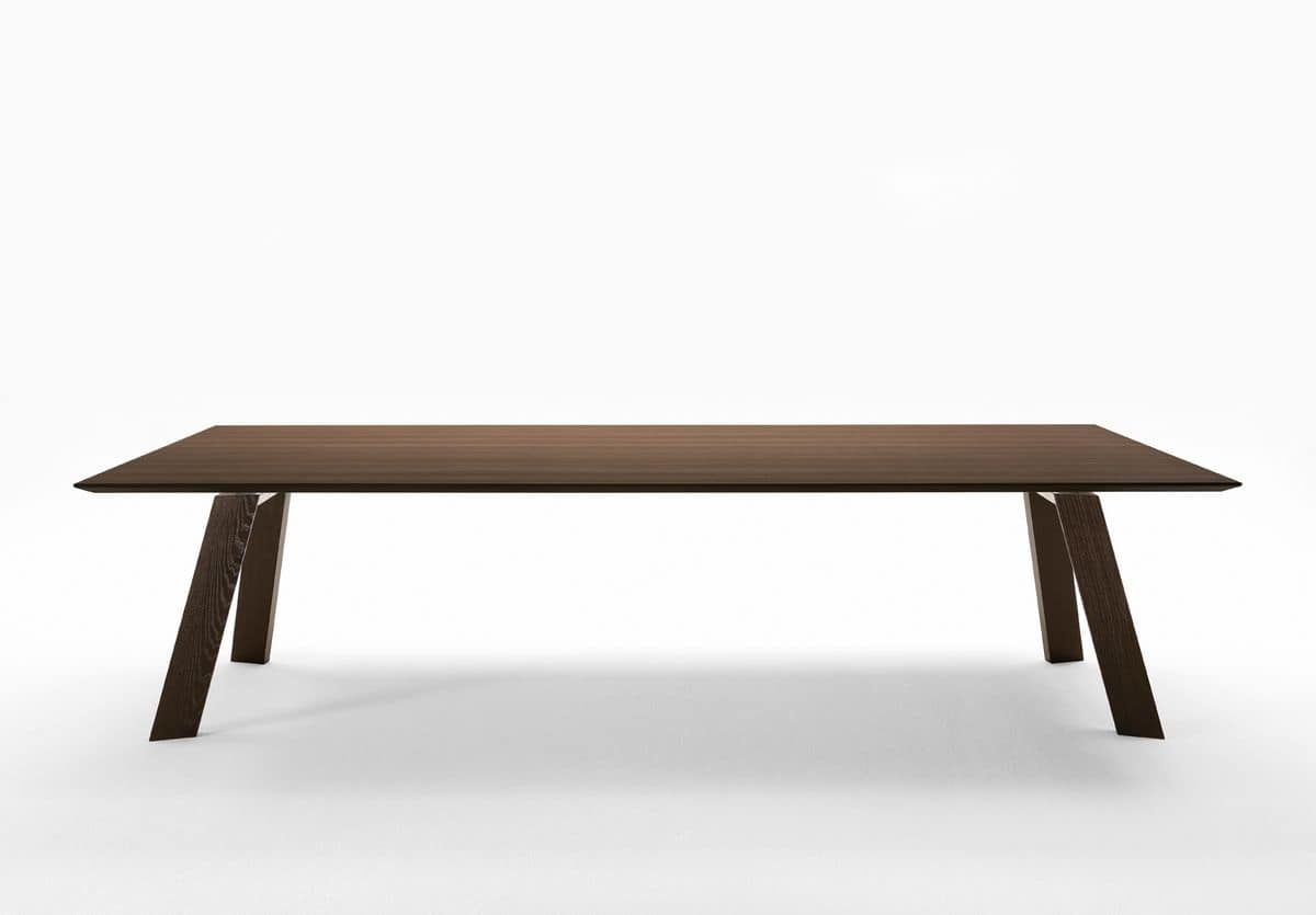 Tavolo rettangolare in legno per la cucina e il soggiorno  IDFdesign