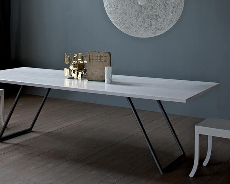 Tavolo da pranzo per soggiorno legno massello  IDFdesign