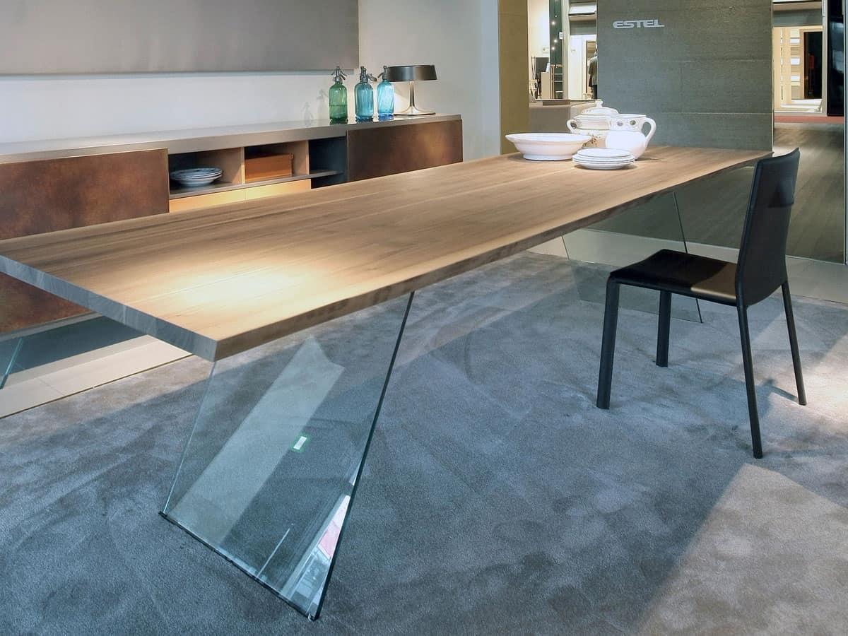 Tavolo con base in vetro tavolo minimale per soggiorno  IDFdesign