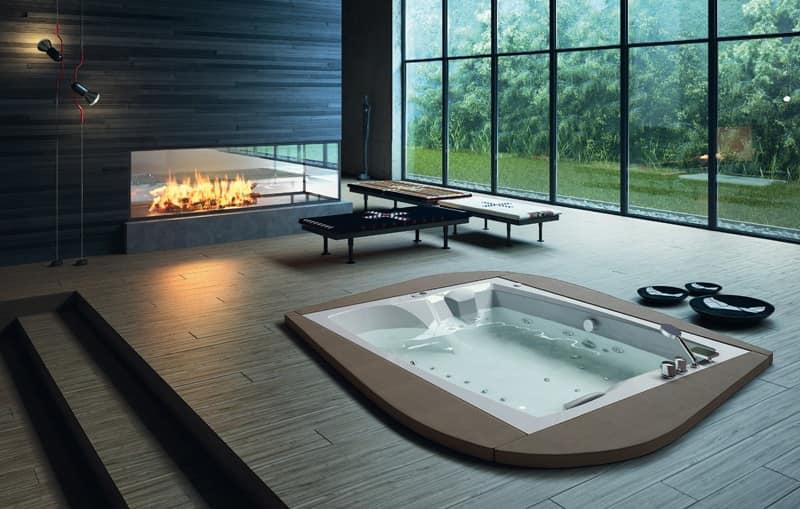 Vasca moderna varie finiture per Area relax  IDFdesign