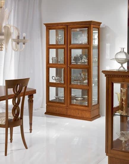 Mobili soggiorno noa gihome ® bianco parete attrezzata porta tv vetrina moderno. Vetrina Classica Per Salotto Due Ante Per Soggiorno Idfdesign