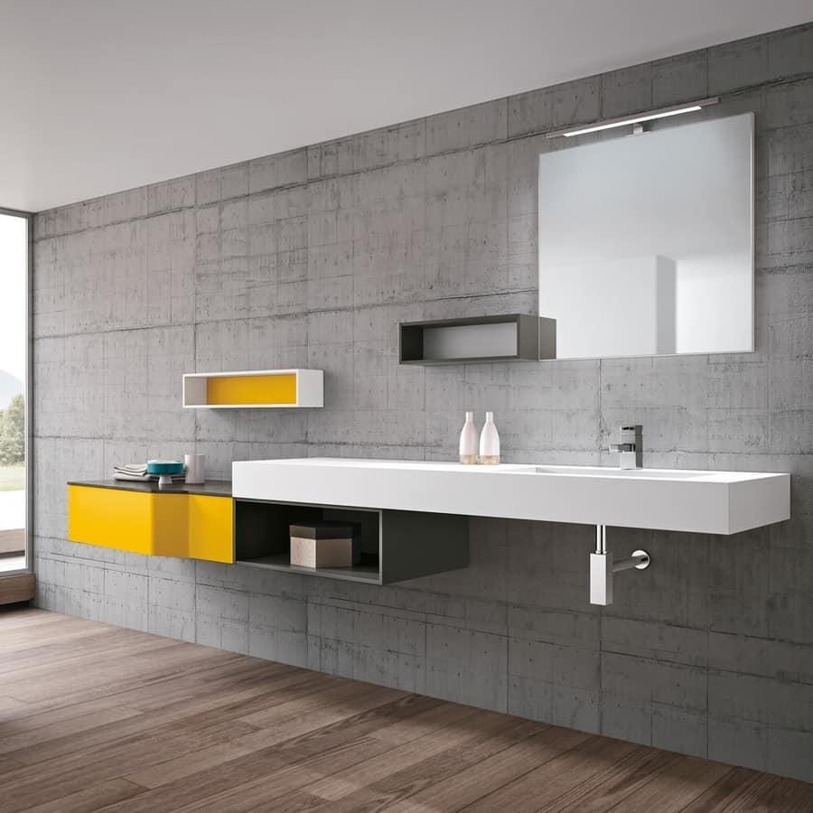 Badezimmermbel mit Waschbecken in Tecnoril  IDFdesign