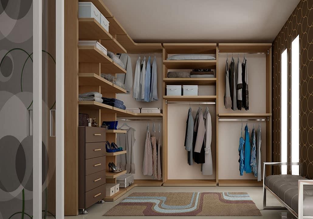Begehbarer Kleiderschrank mit Schubladen auf Rdern  IDFdesign