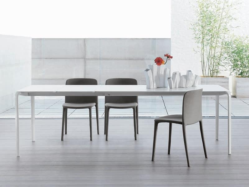 Minimal Tisch ausziehbar Tisch fr Wohnzimmer  IDFdesign