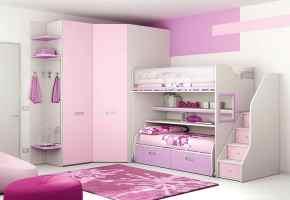 Modulare Kinderschlafzimmer mit Hochbett und begehbarem ...