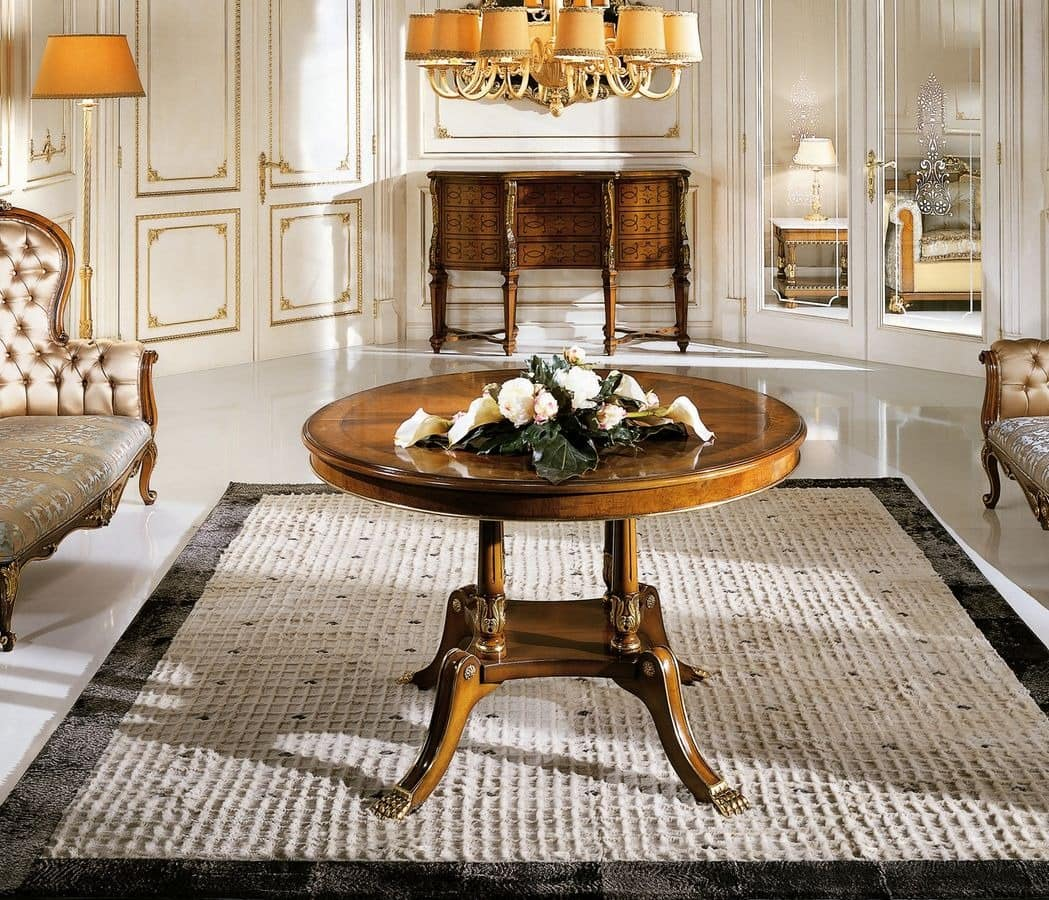 Runder Tisch in klassischen LuxusStil fr Esszimmer