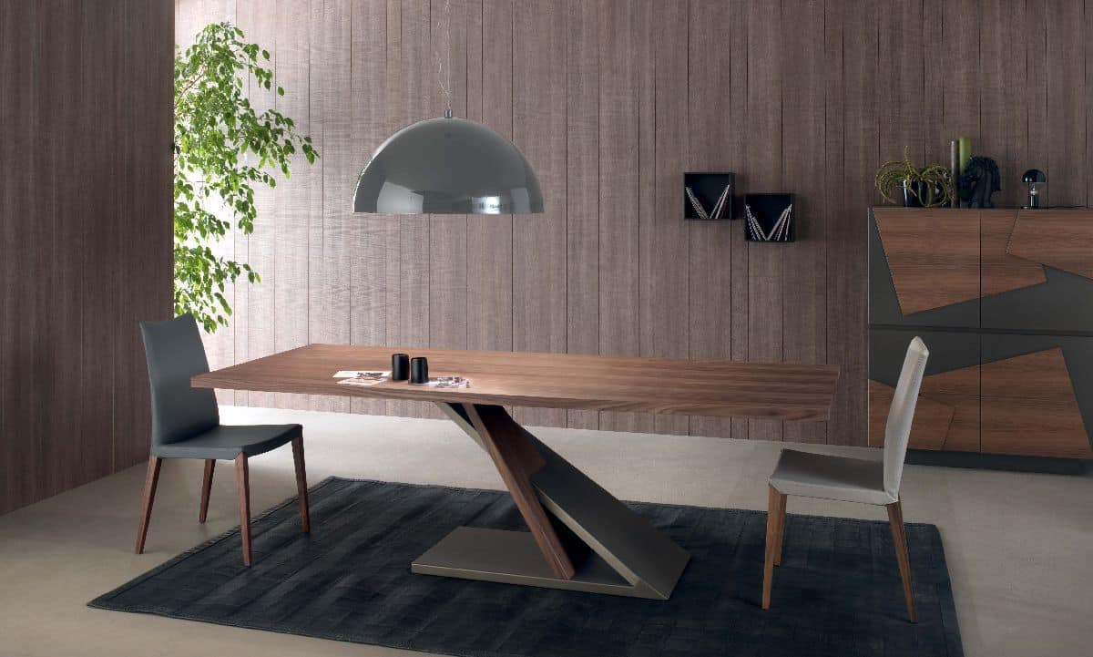 Design Tisch aus furnierter Metall fr Kche  IDFdesign