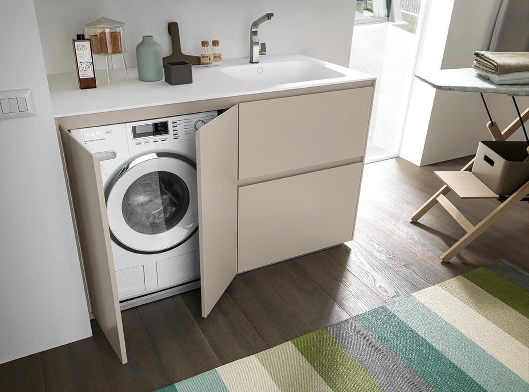Kompakter Schrank fr Wsche mit Waschraum  IDFdesign