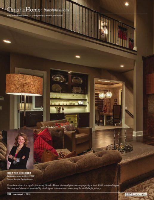 Omaha Magazine March April 2015 Interior Design Group