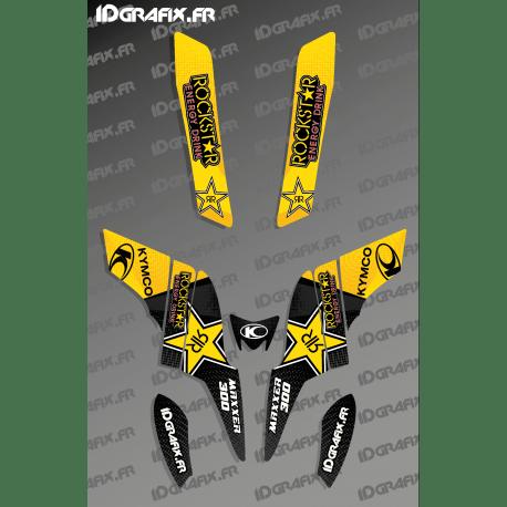 kit deco rockstar edition black yellow kymco 300 maxxer