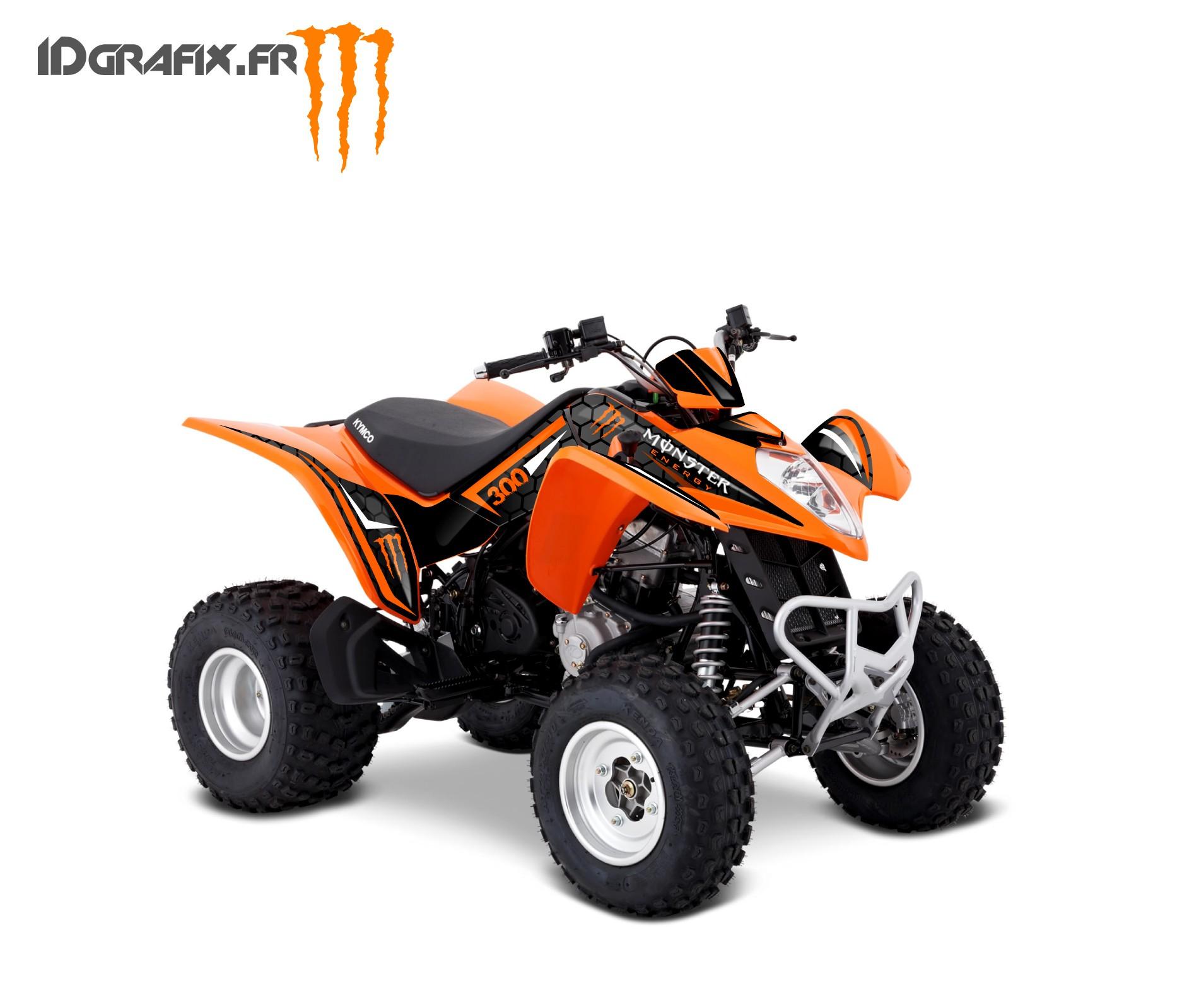 kit deco custom monster orange kymco 300 maxxer