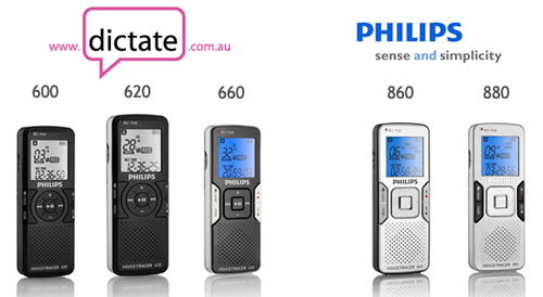The New Digital Voice Tracer Range from Philips