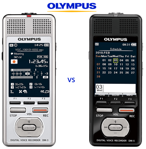 Olympus DM3 vs DM5 compare review features