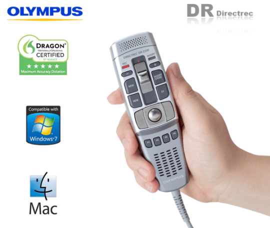 Olympus Directrec DR-2100 DR-220 DR-2300 Hand Held USB Digital Dictation Mic