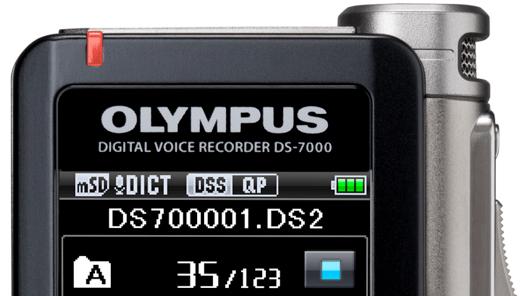 New Olympus DS 7000 digital dictaphone