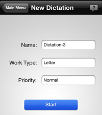Hugo Dictation iPhone App New Dictation Settings