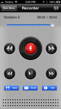Hugo Dictation iPhone App How To Record Audio Dictation