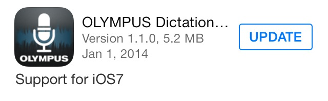 Olympus Dictation for iPhone ver 1.1.0