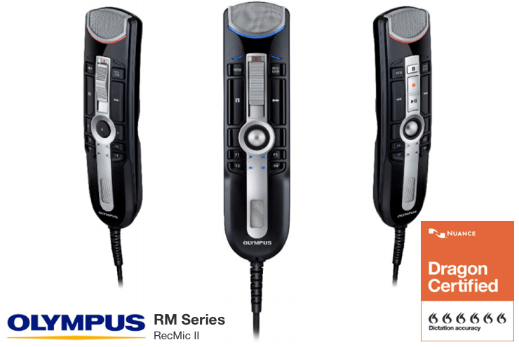 New Olympus RecMic II RM Series Microphones for Dragon