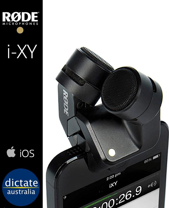 Rode i-XY Condensor Mic iPhone iPad Lightning