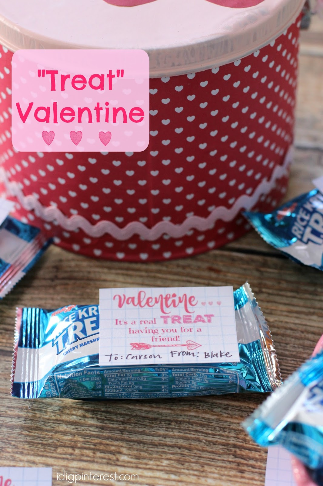 Treat Valentine Idea With Free Printable Tags I Dig
