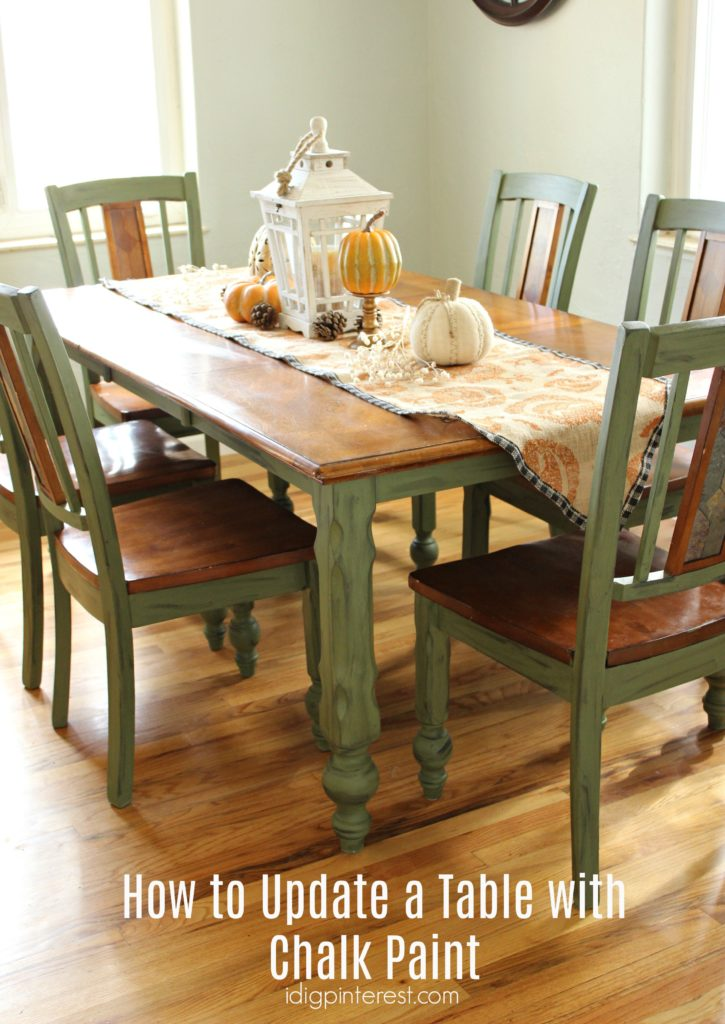 How To Update A Table With Chalk Paint I Dig Pinterest