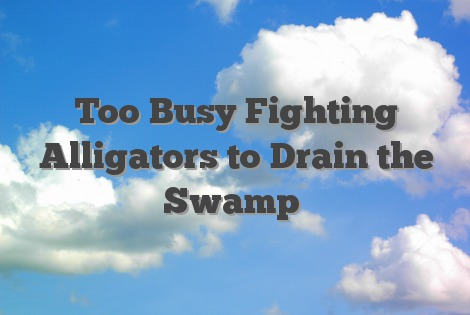 too busy fighting alligators