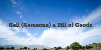 Sell (Someone) a Bill of Goods