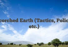 Scorched Earth (Tactics, Policy, etc.)