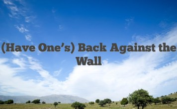 (Have One's) Back Against the Wall