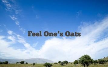 Feel One's Oats