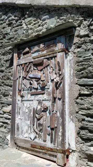 Door -abandoned beach shack