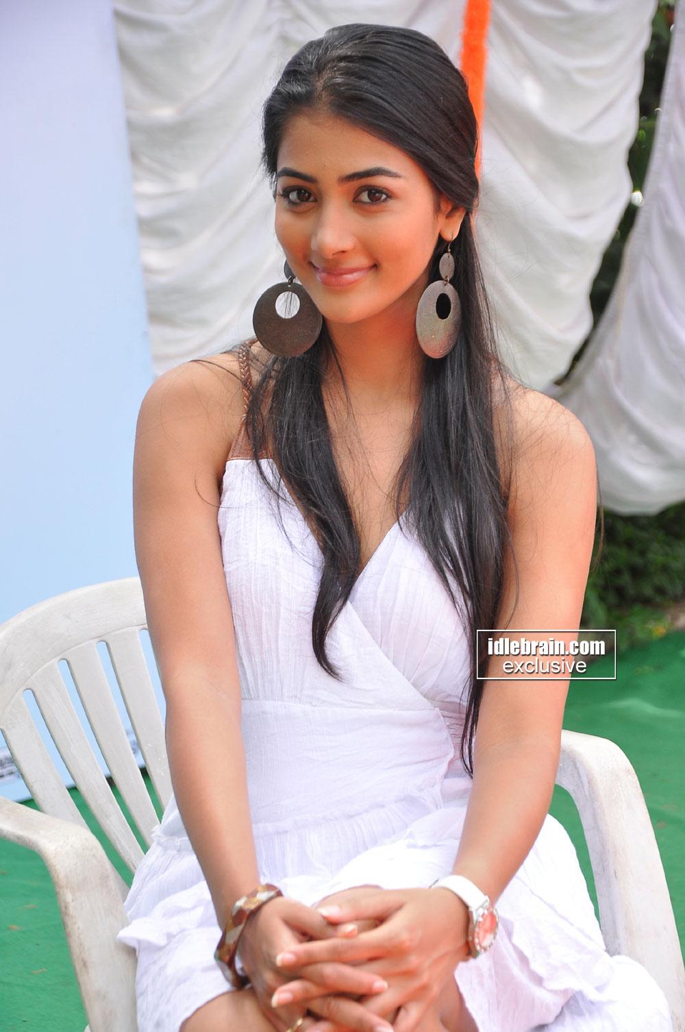 Pooja Hegde in white