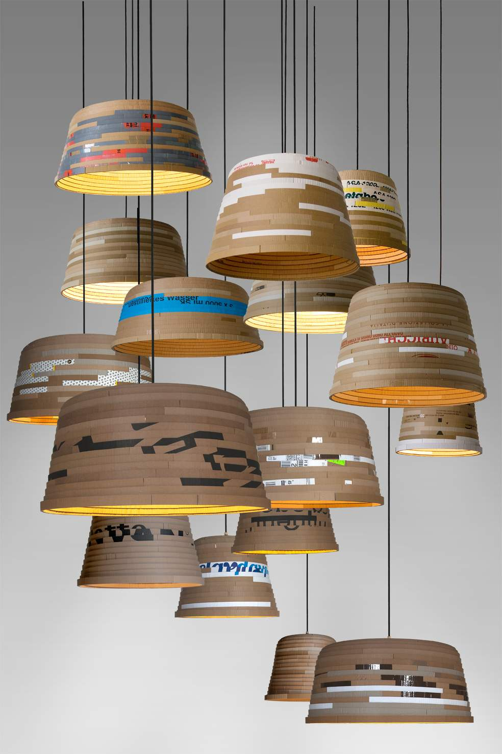Cardboard Pendant Lighting Id Lights