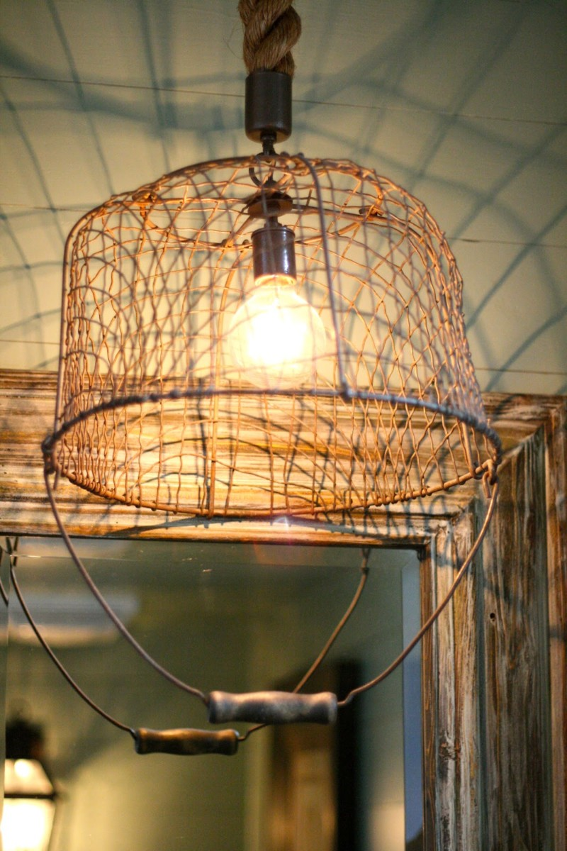 Recycled Basket as a Pendant Lighting  iD Lights