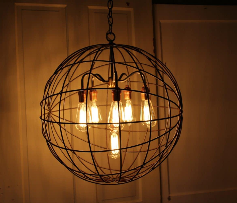 Orb Chandelier Industrial Sphere  iD Lights